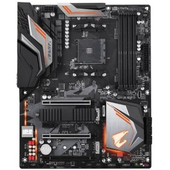 GIGABYTE X470 AORUS Ultra Gaming, Socket AM4, AMD X470, Dual 4xDDR4-3200, APU AMD graphics, HDMI, 3xPCIe X16, 8xSATA3, RAID, 2xM.2, ALC1220 HDA, GbE LAN, 2xUSB3.1 Gen 2 (Type-C & Type-A), 2xUSB3.1, RGB Fusion, ATX