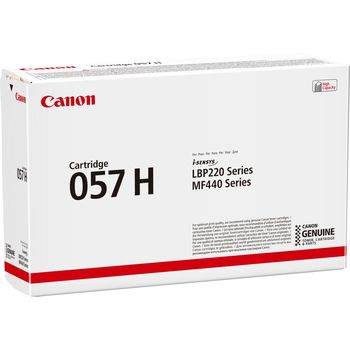 Laser Cartridge Canon 057H (3010C002), black (10000 pages) for LBP 220-series, MF440-series.