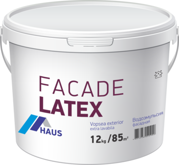 Краска водоэмульсионная фасадная Haus Latex 6 кг