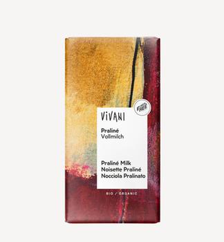 Ciocolată cu lapte praline bio Vivani 100g