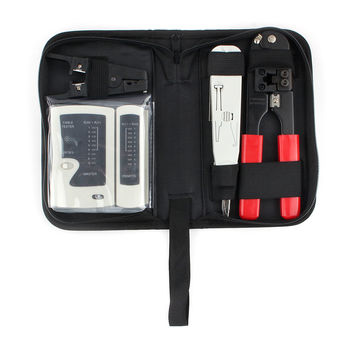 Gembird TK-NCT-01 Tool kit 'Network', 4 pcs Crimping and cutting tool for 8P8C / RJ45 connectors, LAN cable tester (RJ45)