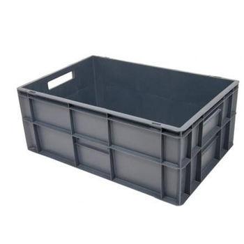 cumpără Ladă din plastic cu capac 600x400x270 mm, gri în Chișinău
