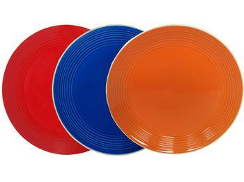 Тарелка керамическая 26.5cm, однотонная, 5 цветов