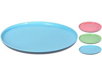 Тарелка пластиковая EH 25cm, внутри разных цветов