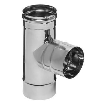 купить Тройник дымохода 90°(430/0.5 мм) dn 115 FERRUM  fm11.115.1F  ES в Кишинёве