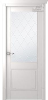 купить Дверь СЕЛБИ эмаль белый остекленная в Кишинёве
