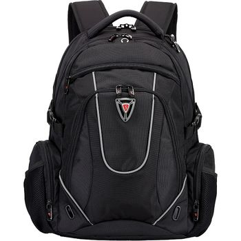 "15.6"" NB backpack Continent  - BP-304BK (Schwyzcross), Black, Main Compartment: 38 x 27.5 x 4 cm, Dimensions: 30 x 48 x 24 cm"