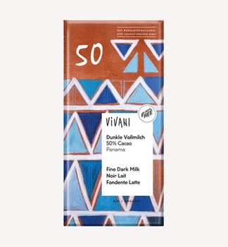 Молочный шоколад 50 % Panama bio Vivani 80г