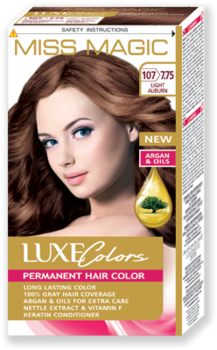Краска для волос,SOLVEX Miss Magic Luxe Colors, 108 мл., 107 (7.75) - Светло-каштановый