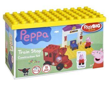 купить BIG Конструктор Peppa Pig Поезд с остановкой, 15 шт. в Кишинёве