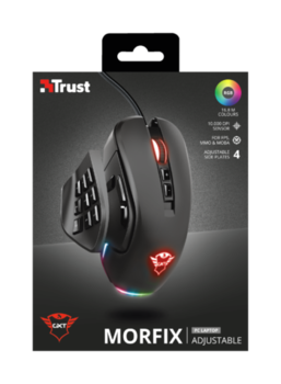 Mouse Trust GXT 970 Morfix Customisable Gaming, Black