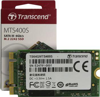 """M.2 SATA SSD    64GB Transcend  """"TS64GMTS400S"""""""