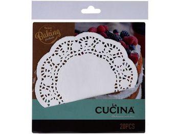 Салфетки сервировочные бумажные Cucina 20шт, D16.5cm