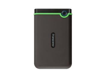 """4,0 ТБ (USB3.1 / Type-C) 2,5 """"Transcend"""" StoreJet 25M3C """", серый цвет, ударопрочная резина, резервное копирование 1T"""
