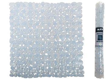 Коврик для душа 54X54cm MSV Galets прозрачный, PVC
