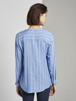 Блуза TOM TAILOR Голубой в полоску