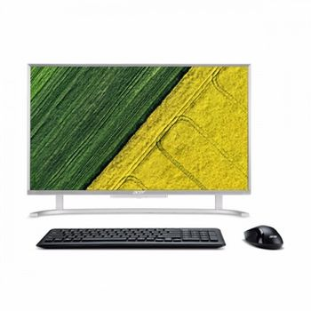 "All-in-One PC - 21.5""  ACER Aspire C22-720 FullHD (DQ.B7AME.007) Intel® Celeron® DC J3060 up to 2,48GHz, 4GB DDR4 RAM, 500GB HDD, no ODD, Card Reader, Intel® HD Graphics, HD webcam, Wi-Fi-AC/BT4.0, GigaLAN, 65W PSU, Endless OS, USB KB/MS, Silver"