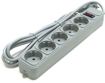 Surge Protector Power Cube SPG3-B-5PP, 5 Sockets, 1.5m, Grey