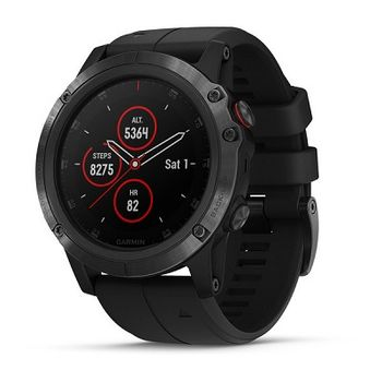 "GARMIN fenix 5X Plus Sapphire Black with black band, Multisport GPS Watch for Sport, 1.2"",Water rating 10ATM, Battery life: Up to 2 weeks, 16GB, GPS, Compass, Bluetooth, Smart, ANT+, Wifi, Smart notifications and Activity Tracking Features, 86g"