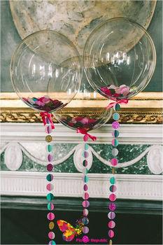купить Прозрачные воздушные шары с перьями в Кишинёве