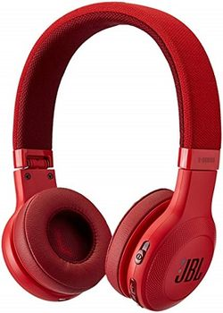 JBL E45BT / Bluetooth On-ear headphones with microphone, BT Type 4.1, Dynamic driver 40 mm, Frequency response 20 Hz-20 kHz, 1-button remote with microphone, JBL Signature Sound, Battery Lifetime (up to) 16 hr, 3.5 mm jack, Red