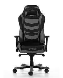 Игровое кресло DXRacer Iron GC-I166-NG, черный / серый, максимальная нагрузка пользователя до 150 кг / рост 160-195 см