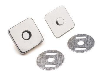 Capse magnetice pătrate, 18x18 mm / argintiu
