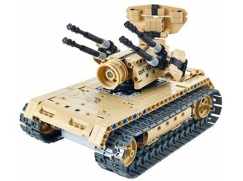 8012, XTech Bricks: 2in1, Tank & Anti-aircraft, R/C 4CH, 457 pcs