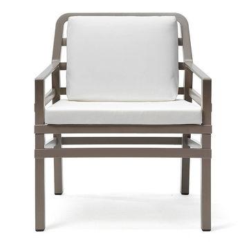 Кресло с подушками Nardi ARIA TORTORA bianco 40330.10.155.155 (Кресло с подушками для сада и терас)