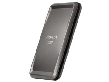 """Портативный твердотельный накопитель ADATA """"SC685P"""" 1,0 ТБ (USB3.2 / Type-C), серый титан (86x56x9 мм, 30 г, R / W: 530/460 МБ / с)"""