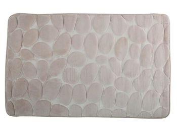 Коврик для ванной комнаты 50X80cm Pebble бежевый, микрофибр