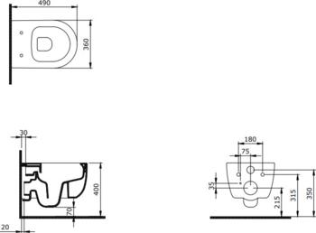 V Tondo WC Compact 49cm с крышкой soft close