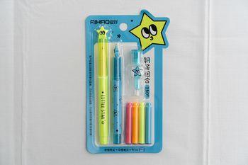 Set 2 stilouri cu penita+4rezerve colorate /288/24