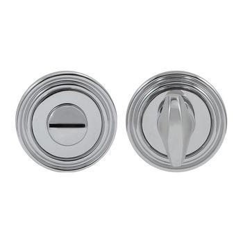 Дверная ручка на розетке Timeless полированный хром + накладка WC