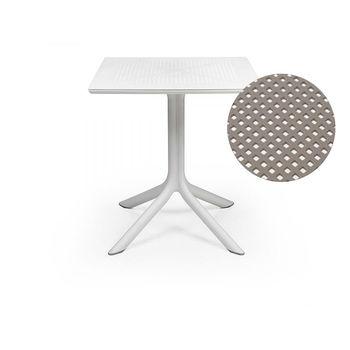 Стол Nardi CLIPX 70 BIANCO 40085.00.000 (Стол для сада террасы балкон)