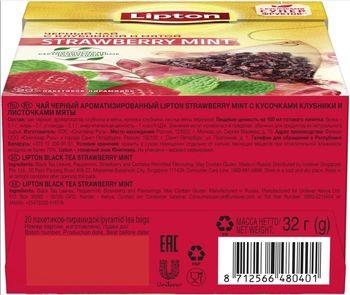 купить Lipton Nirvana Strawberry Mint, 20 пак. в Кишинёве