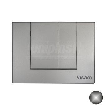купить Кнопка смыва двойная ALINDA Visam, хром (вертик.кнопки) в Кишинёве