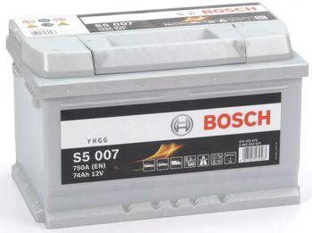 Bosch S5 12V 74Ah 750EN 278x175x175 -/+