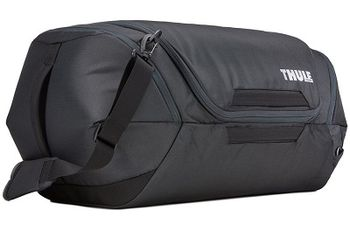 Travel Bag - THULE Subterra Duffel 60L, Dark Shadow, 800D Nylon, Dimensions 34 x 37 x 65 cm, Weight 1.1 kg, Volume 60L, A sleek and spacious carry-on duffel with wide-mouth access to easily pack and organize your essentials.