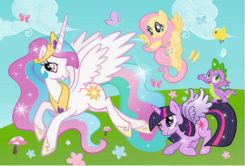 "90555 Trefl Puzzles - ""50 Tattoo"" - Playing with Princess Celestia / Hasbro, My Little Pony"