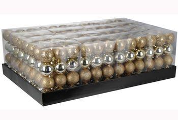 Набор шаров 24X30mm, золотые в коробке, 3 дизайна