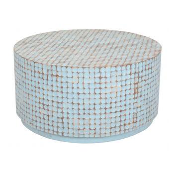 купить Круглый стол из древесины  кокос/манго, 930х930х470 мм в Кишинёве