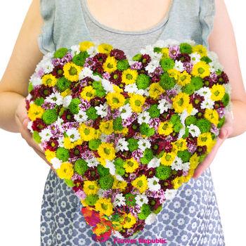 купить Сердце из хризантем в Кишинёве