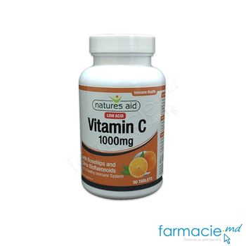 купить Vitamina C 1000mg comp. N90 (macies,citrice,bioflavonoizi) Natures Aid в Кишинёве