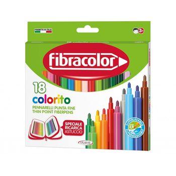 Фломастеры Fibracolor 18 цветов моющиеся