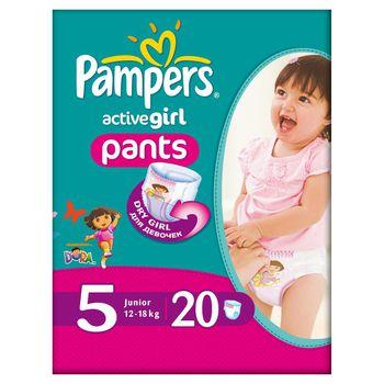 Pampers active girl- подгузники трусики 5 (15-18 kg) (20 шт.)