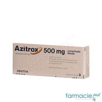 купить Azitrox comp. film. 500 mg N3 в Кишинёве
