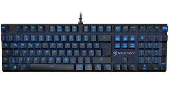 ROCCAT Suora / Frameless Mechanical Gaming Keyboard, Mechanical keys, Advanced anti-ghosting, 6 Macro keys, Blue key back-lighting (11-level brightness), Game mode button, USB, Black