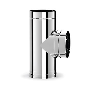 Ø150 Тройник дымоходный 90° (inox 316L)