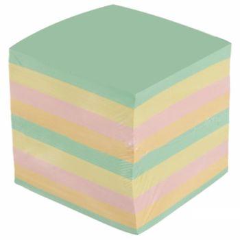 Блок для записей 90*90*90мм цветной